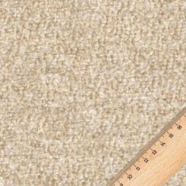 Bukle Döşemelik Koyu Krem Kumaş Teddy 14