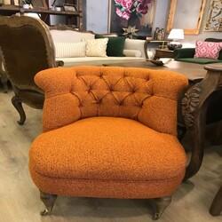 Kumaşçı Home - Bukle Döşemelik Oranj Kumaş Teddy 45 (1)