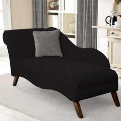 Kumaşçı Home - Bukle Döşemelik Siyah Kumaş Teddy 76 (1)