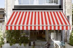 Corti Kırmızı Beyaz Tentelik Kumaş 88000-376 - Thumbnail