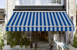CORTİ - Corti Mavi Çizgili Tentelik Kumaş 8000-381 (1)
