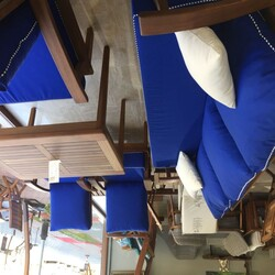 Agora - Döşemelik Akrilik Kumaş Mavi Agora Azul 3722 (1)