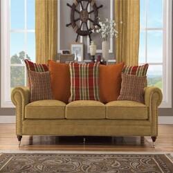 Kumaşçı Home - Döşemelik Hardal Keten Kumaş Mirla 50201 (1)