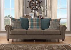 Kumaşçı Home - Döşemelik Kahverengi Keten Kumaş Mirla 60203 (1)