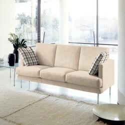 Kumaşçı Home - Döşemelik Krem Keten Kumaş Mirla 50500 (1)