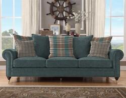 Kumaşçı Home - Döşemelik Yeşil Keten Kumaş Mirla 60100 (1)