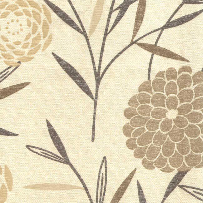 Pamuk Baskılı Keten Kumaş Çiçek Desenli 01