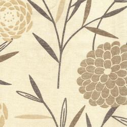 Kumaşçı Home - Pamuk Baskılı Keten Kumaş Çiçek Desenli 01