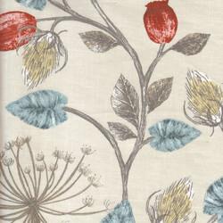 Kumaşçı Home - Pamuk Baskılı Keten Kumaş Çiçek Desenli 14