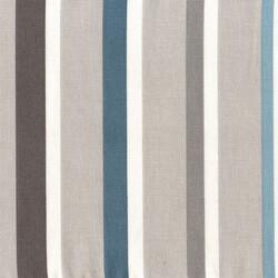 Kumaşçı Home - Pamuk Baskılı Keten Kumaş Mavi Çizgili