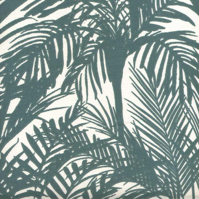 Pamuk Baskılı Keten Kumaş Palmiye Desenli 04