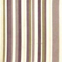 Kumaşçı Home - Pamuk Baskılı Keten Kahverengi Çizgili Kumaş