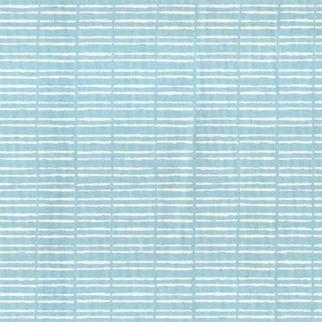 Pamuk Baskılı Keten Mavi Çizgili Kumaş