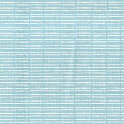 Kumaşçı Home - Pamuk Baskılı Keten Mavi Çizgili Kumaş