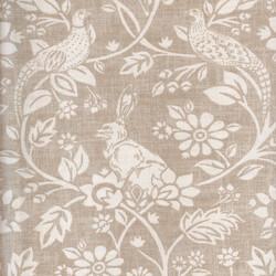 Kumaşçı Home - Pamuk Baskılı Keten Tavşan Desenli Kumaş
