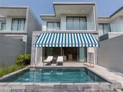 Sauleda Mavi Beyaz Çizgili Tentelik Kumaş Azul Real-N 2359 - Thumbnail