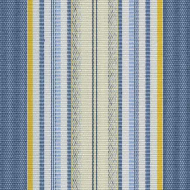 Sauleda Sarı Mavi Çizgili Tentelik Kumaş Miami 2702