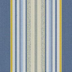 Sauleda - Sauleda Sarı Mavi Çizgili Tentelik Kumaş Miami 2702