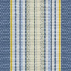 Sauleda Sarı Mavi Çizgili Tentelik Kumaş Miami 2702 - Thumbnail