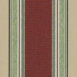 Sauleda - Sauleda Yeşil Bordo Çizgili Tentelik Kumaş 2566